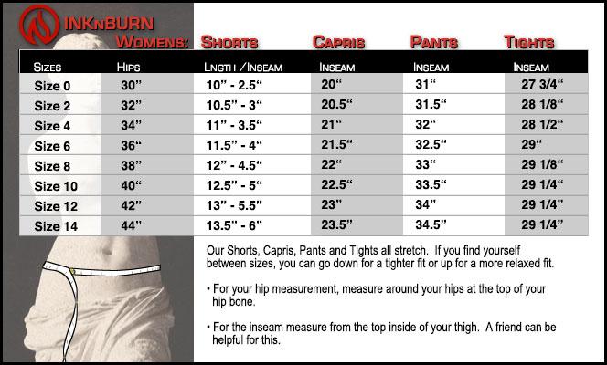 womens pants waist size chart: Womens pants waist size chart buy cartel whistler womens plus