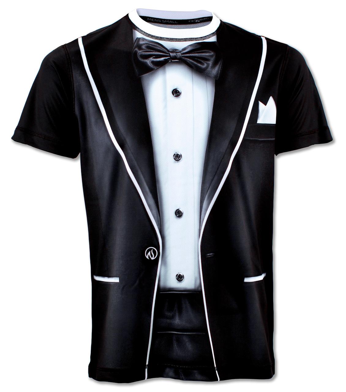 INKnBURN Mens Tuxedo Running Shirt - Front