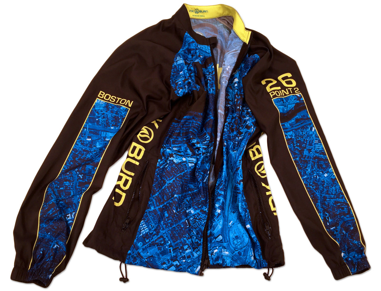 Men's 2015 Boston Windbreaker Jacket Back