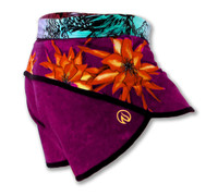 INKnBURN Women's Dragon Flower Shorts Right Side Waistband Down