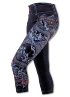 INKnBURN Dark Blue Denim Ryu Capris Left Side View