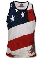 INKnBURN Men's Patriot Singlet Front
