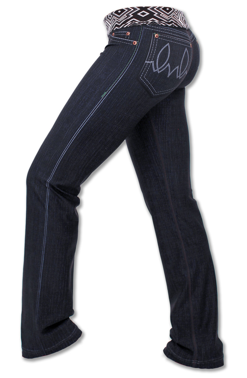 INKnBURN 210 Peformance Denim Pants Side Waistband Folded Down