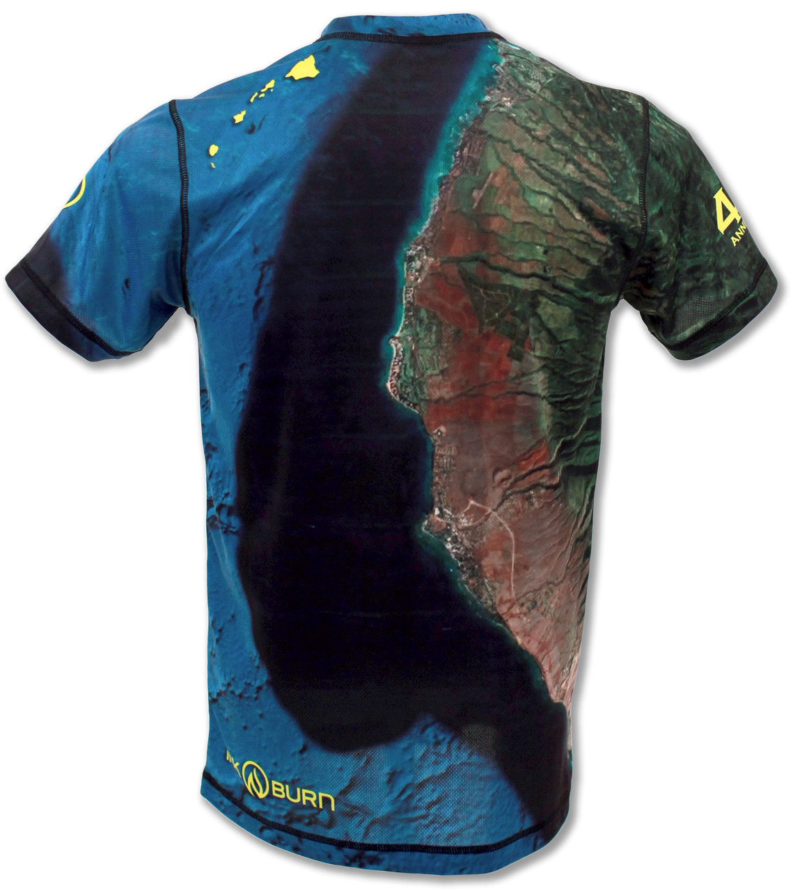 INKnBURN Men's Maui Marathon Tech Shirt Back