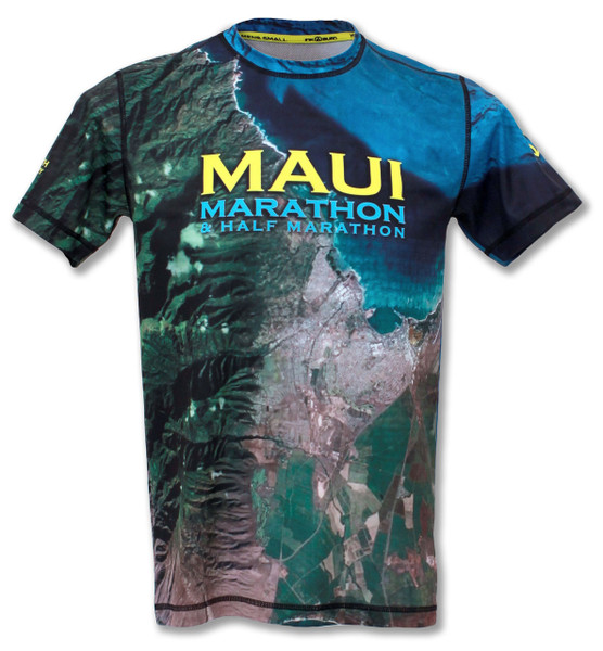 INKnBURN Women's Maui Marathon Tech Shirt Back
