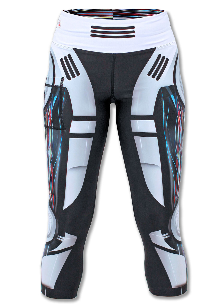 INKnBURN Robot Capris Front View Waistband Up
