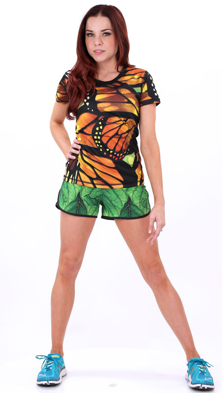 Women's Monarch Tech Shirt with Leaf Shorts