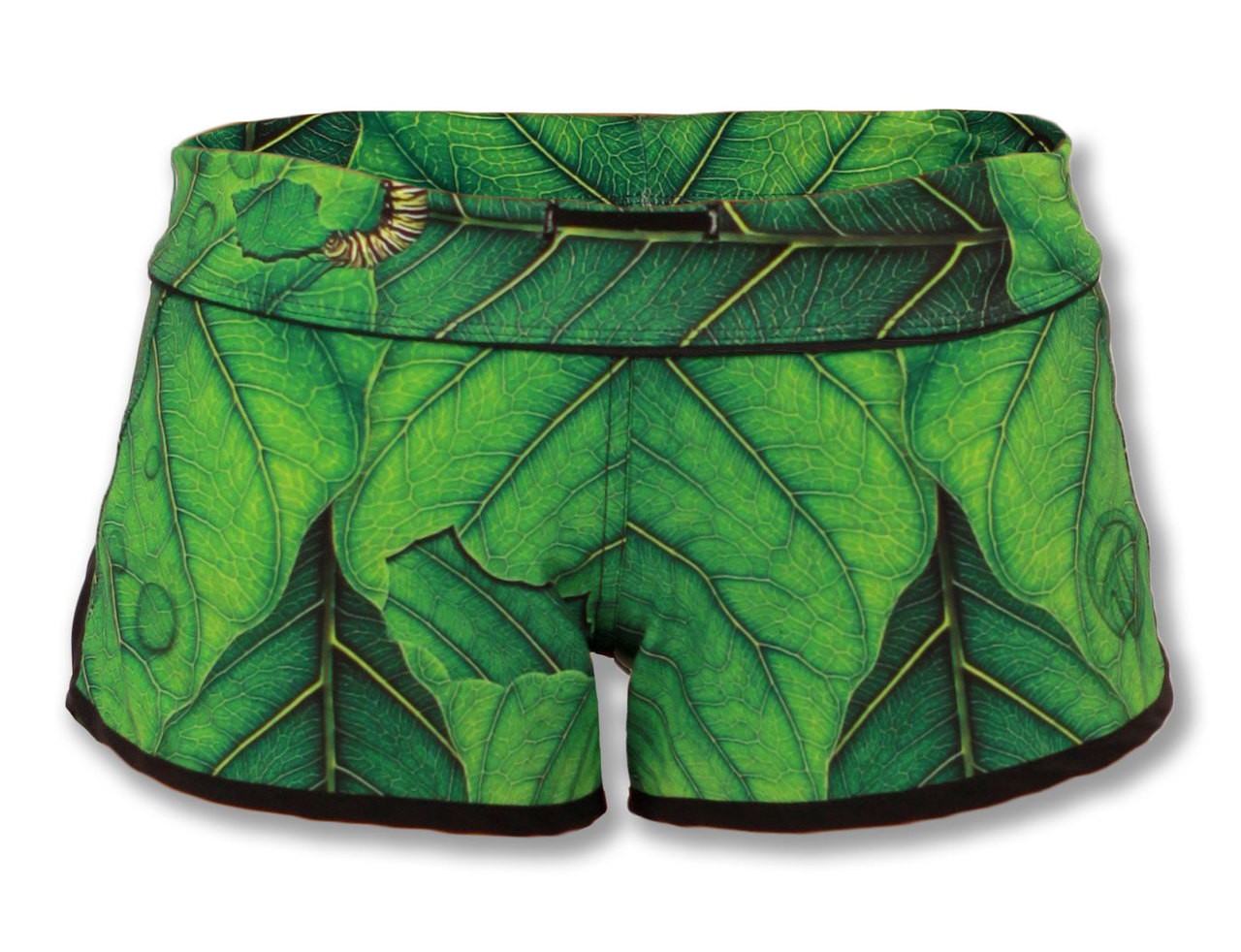"INKnBURN ""A New Leaf"" Shorts Front View Waistband Folded Down"