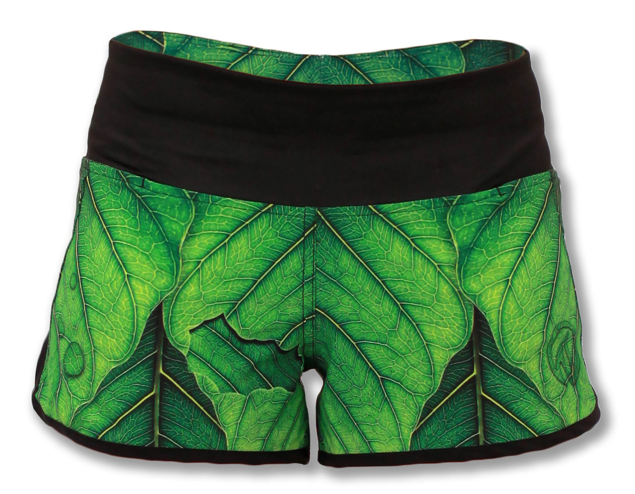 "INKnBURN ""A New Leaf"" Shorts Front View Waistband Up"