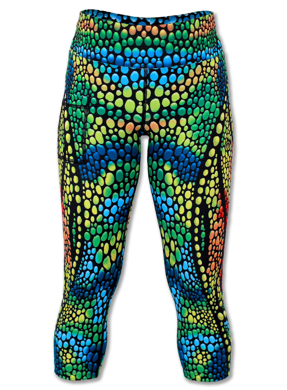INKnBURN Chameleon Capris Front View Waistband Up