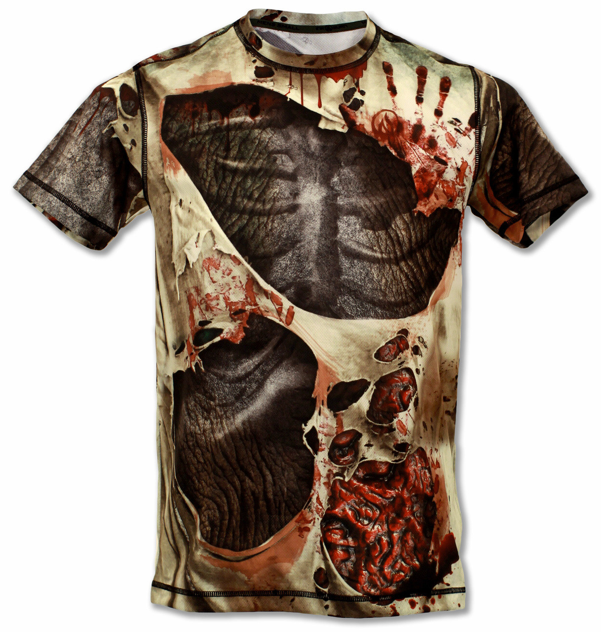 INKnBURN Men's Zombie Tech Shirt Front