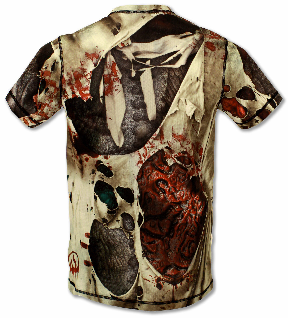 INKnBURN Men's Zombie Tech Shirt Back