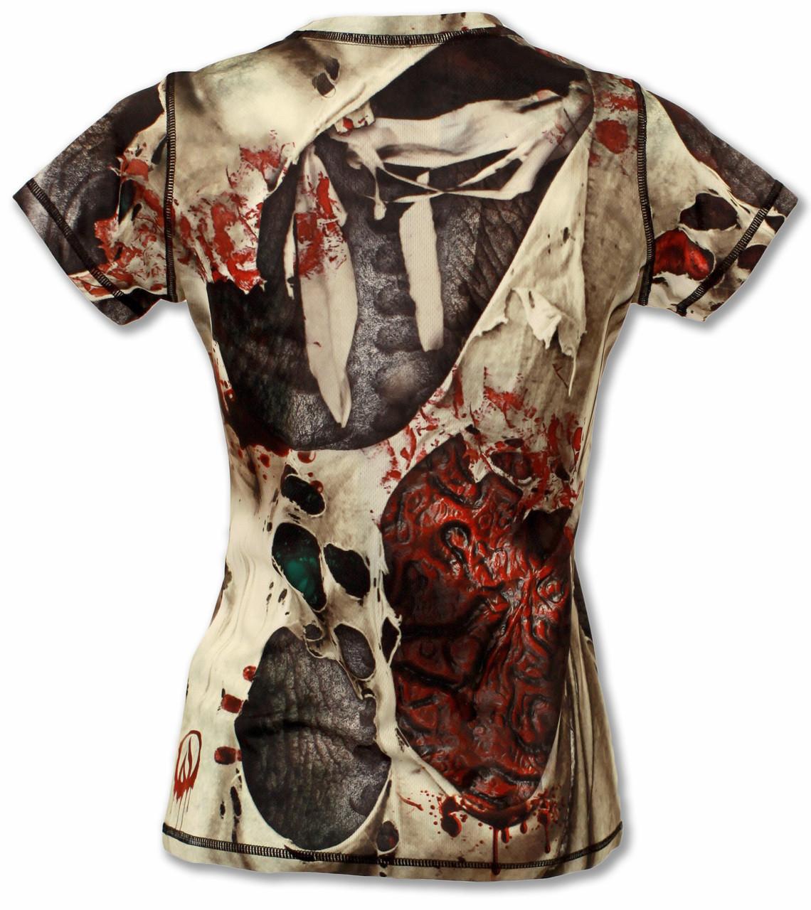 INKnBURN Women's Zombie Tech Shirt Back
