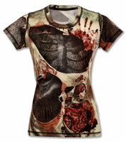 INKnBURN Women's Zombie Tech Shirt Front