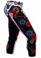 INKnBURN Calavera Capris Right Side View Waistband Down