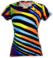 INKnBURN Women's Angel Stripes Tech Shirt Front