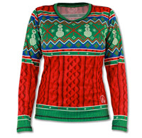 Women's 2015 Holiday Sweater Long Sleeve Tech Shirt Front