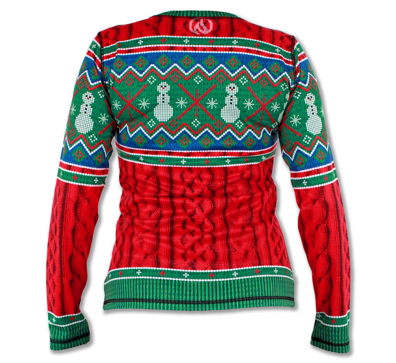 Women's 2015 Holiday Sweater Long Sleeve Tech Shirt Back