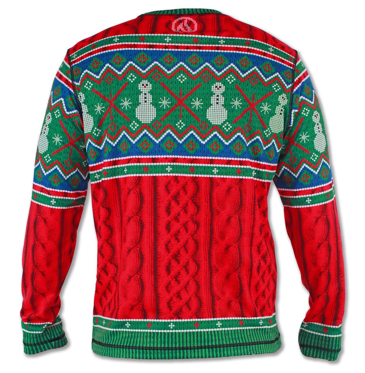 Men's 2015 Holiday Sweater Long Sleeve Tech Shirt Back