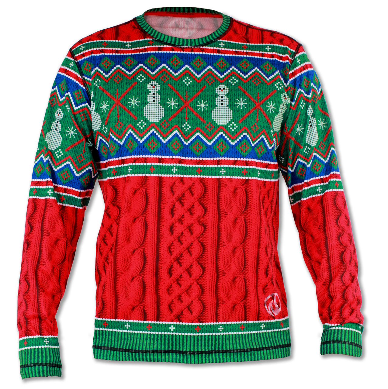 Men's 2015 Holiday Sweater Long Sleeve Tech Shirt Front