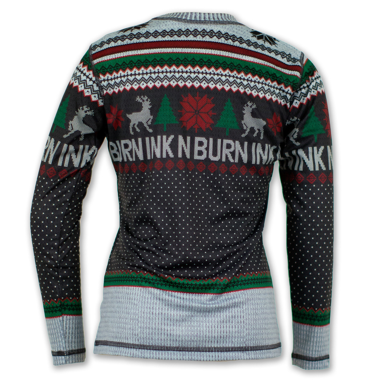 INKnBURN Girl's Wonderland Holiday Sweater Tech Shirt