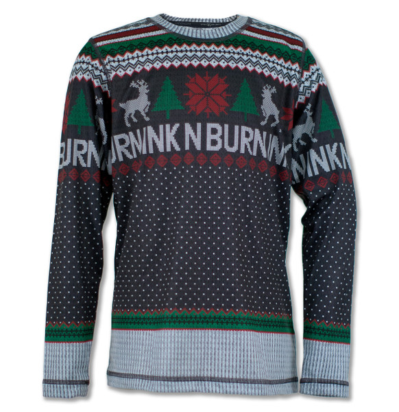 INKnBURN Boy's Wonderland Holiday Sweater Tech Shirt