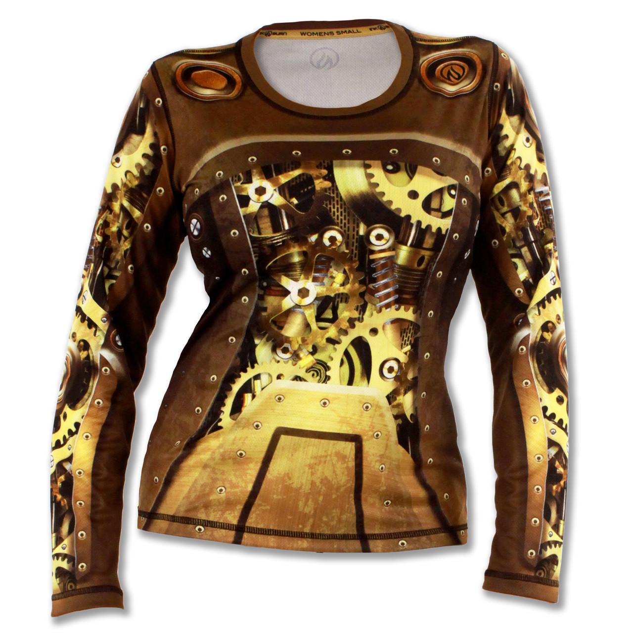 Inknburn women 39 s steampunk long sleeve tech shirt for Long sleeve technical running shirt