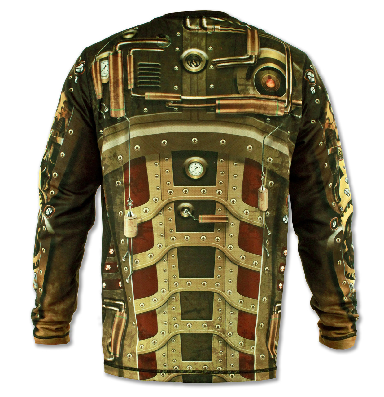 INKnBURN Men's Steampunk Long Sleeve Tech Shirt Back