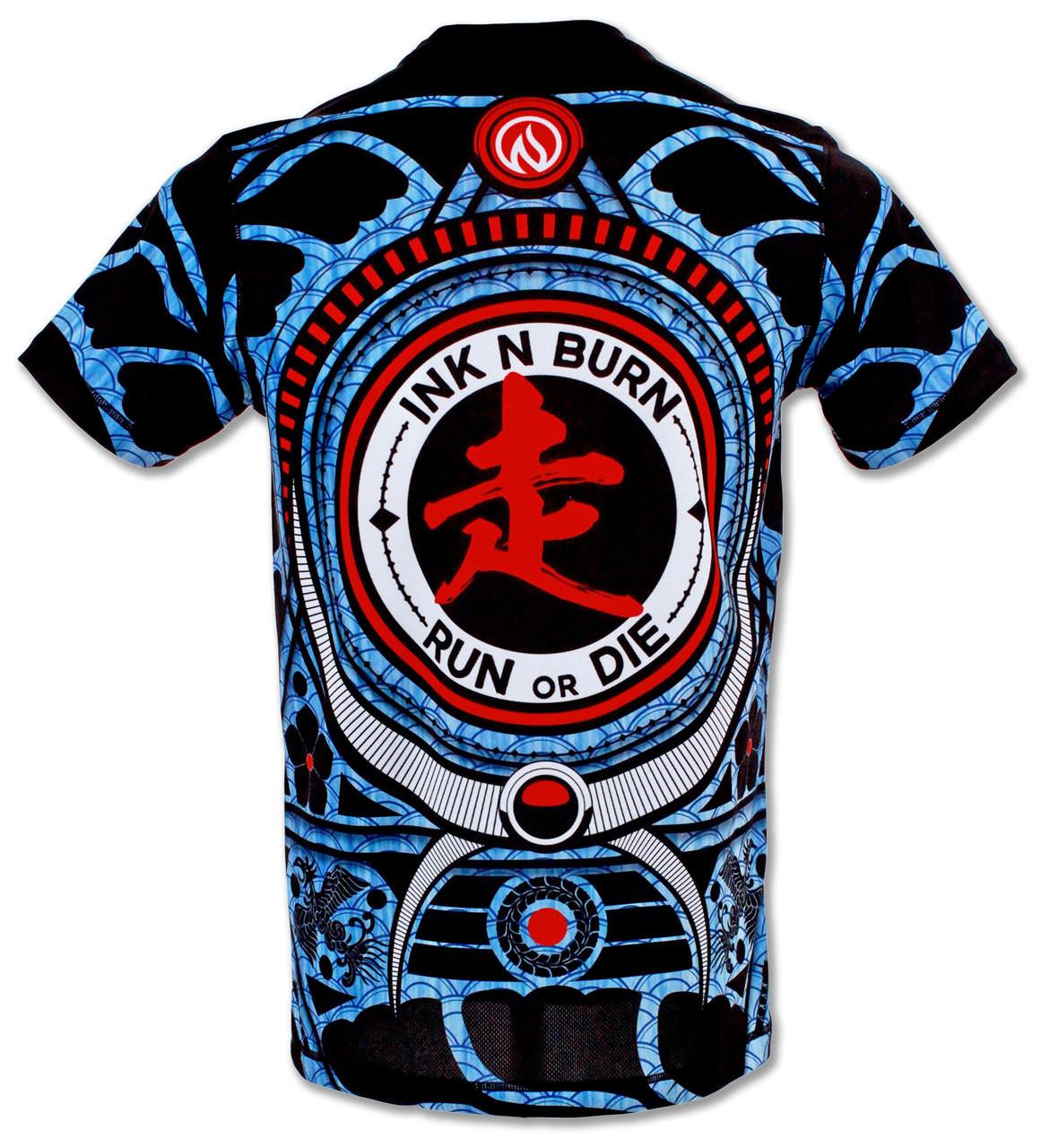 INKnBURN Men's Warrior Run or Die Tech Shirt Back