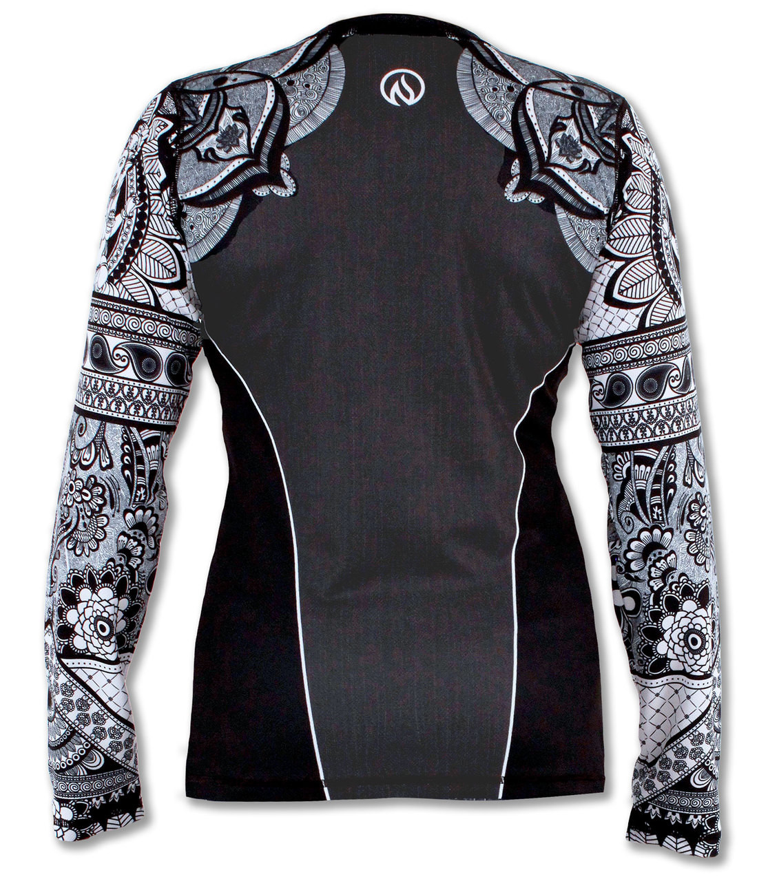 INKnBURN Women's Healing Mandala Long Sleeve Tech Shirt Back