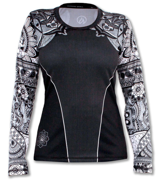 INKnBURN Women's Healing Mandala Long Sleeve Tech Shirt Front