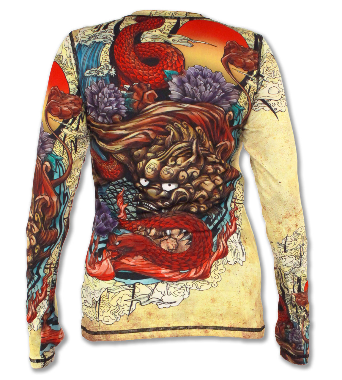 INKnBURN Women's Foo Dog Pullover with Thumbholes Back