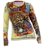 INKnBURN Women's Foo Dog Pullover with Thumbholes Front