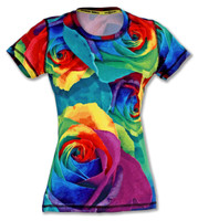 INKnBURN Women's Rose Tech Shirt Front