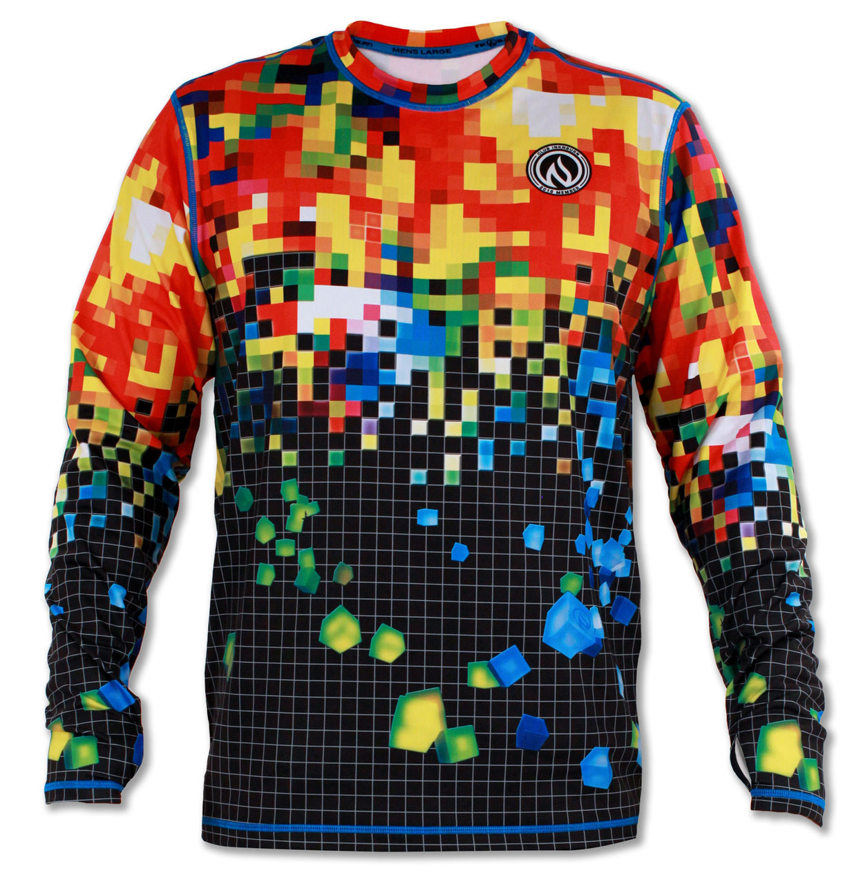 INKnBURN Men's Club INB Pixel Pullover with Thumbholes Front