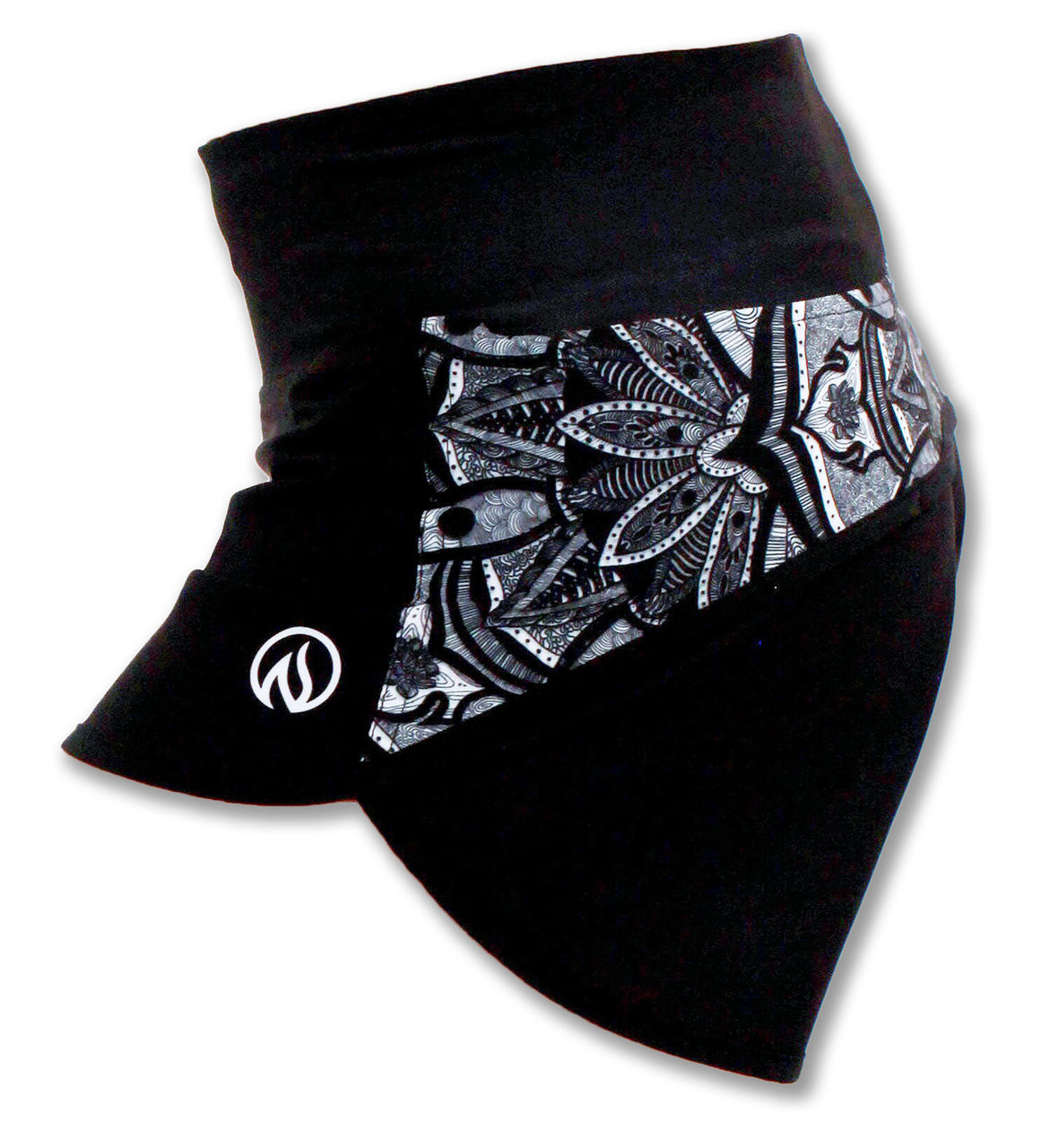 INKnBURN Healing Mandala Shorts Side Waistband Up