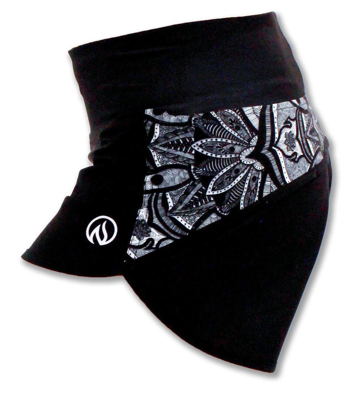 INKnBURN Healing Mandala Shorts Side Waistband Up