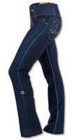 INKnBURN Women's Rose Performance Denim Pants Left Side Waistband Up