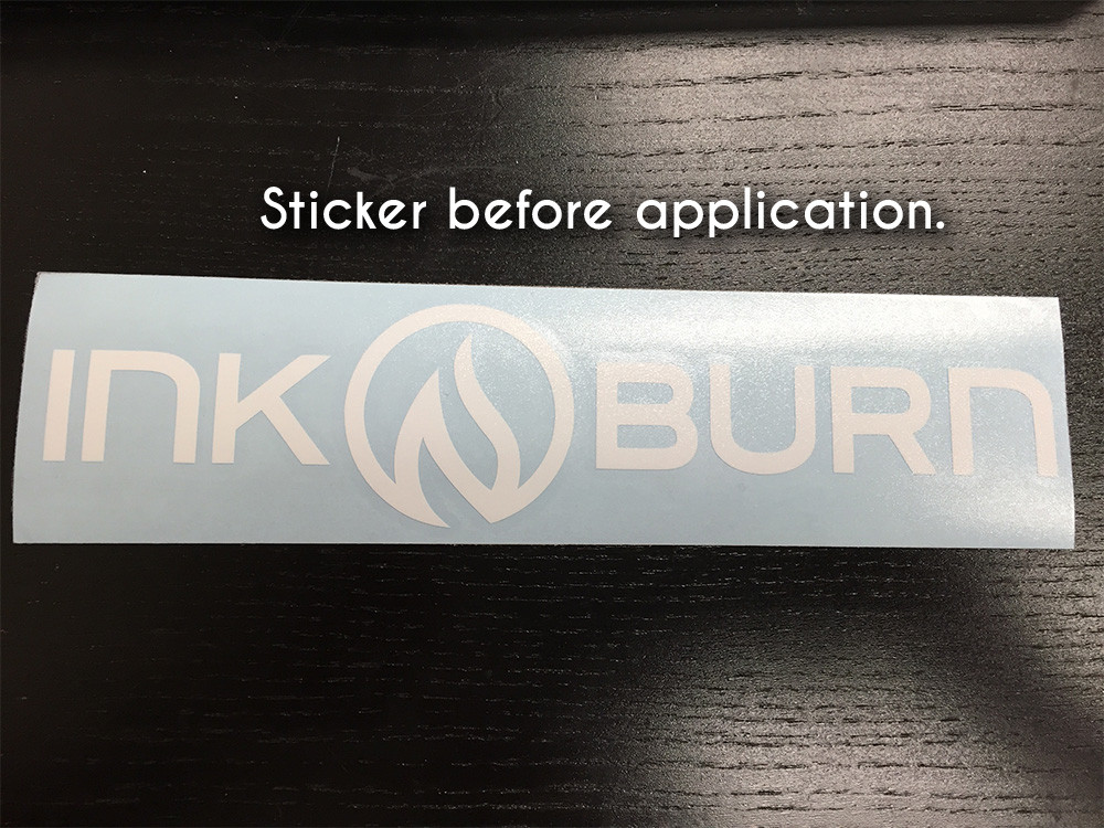 Decal before being applied.
