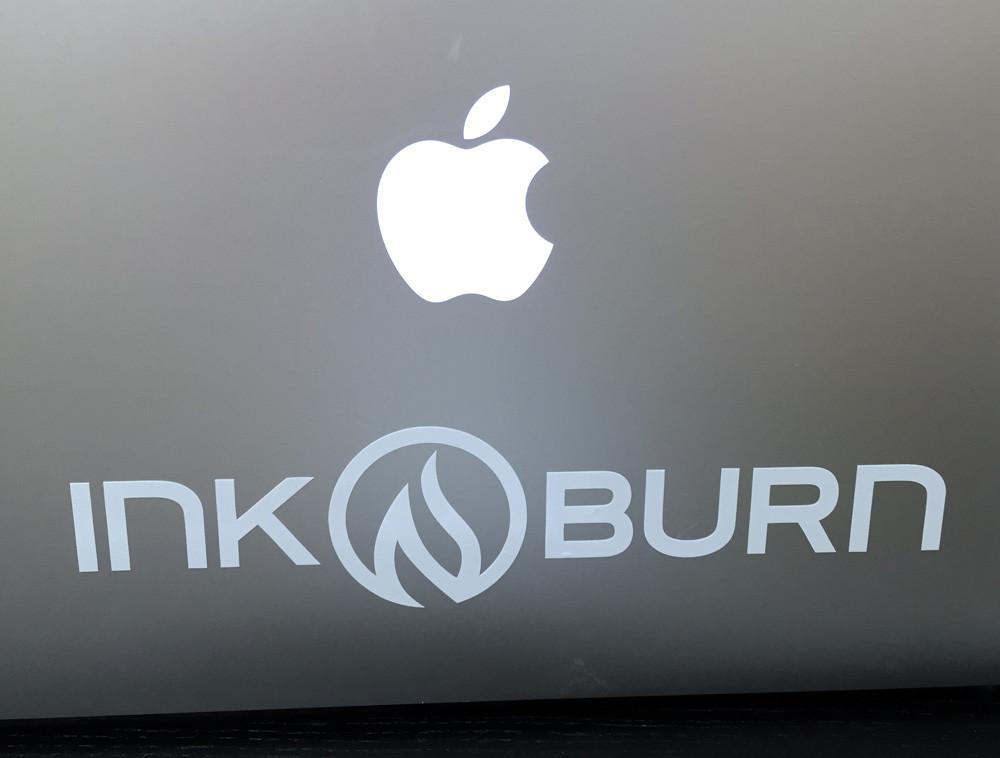 Final sticker on Apple Laptop.