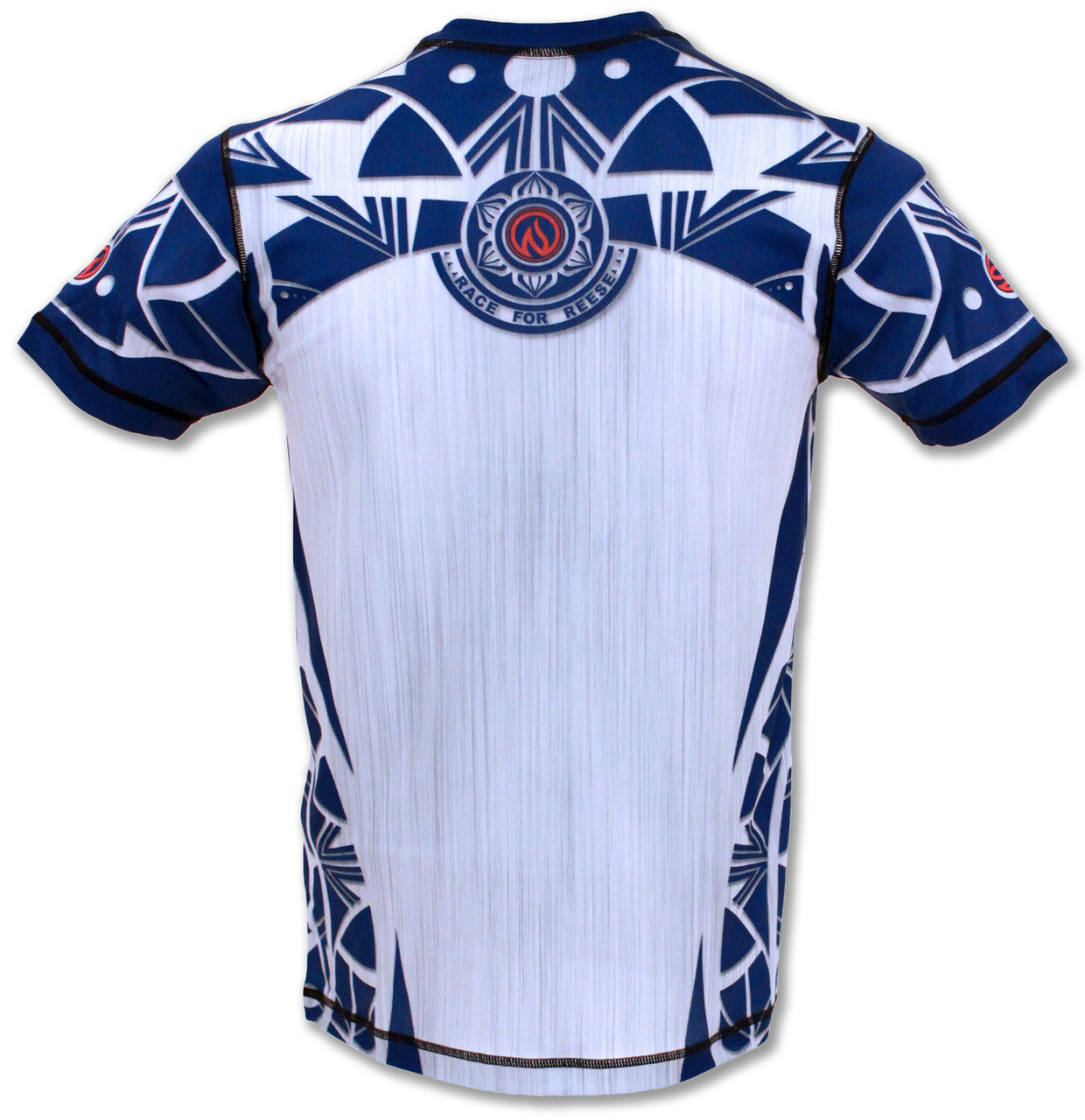 INKnBURN Men's Blue Healing Mandala Tech Shirt Back