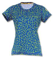 INKnBURN Women's Be A Mazed Tech Shirt Front