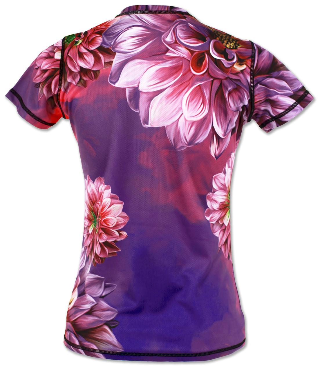 INKnBURN Women's Dahlia Tech Shirt Back