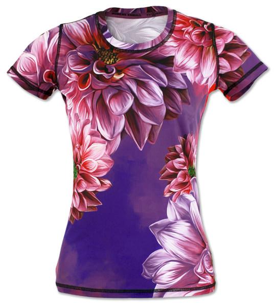 INKnBURN Women's Dahlia Tech Shirt Front