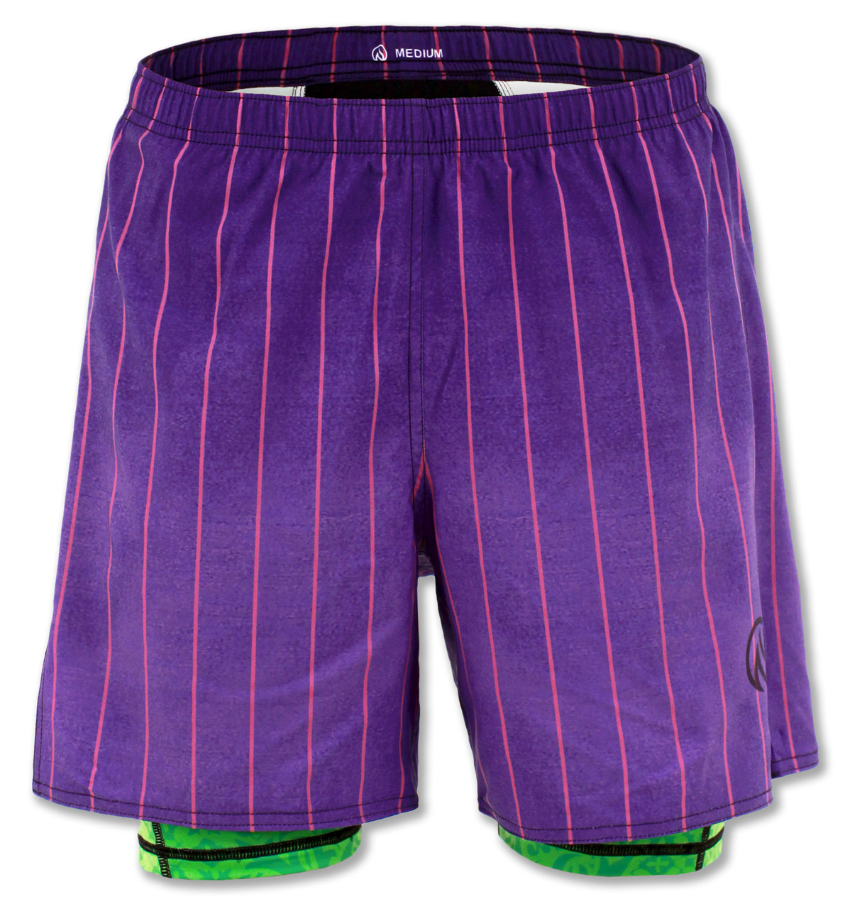 INKnBURN Men's Purple Pinstripe Shorts Front