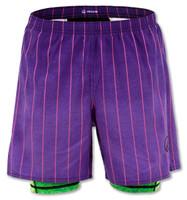 INKnBURN Men's Purple Pinstripe Shorts Front