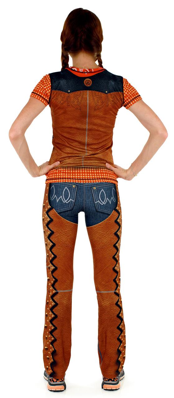INKnBURN Women's Western Tech Shirt and Denim Pants