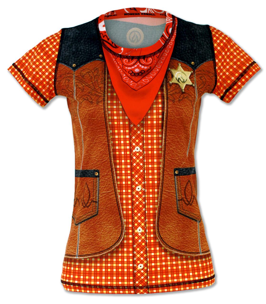 INKnBURN Women's Western Tech Shirt Front