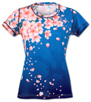 INKnBURN Women's Cherry Blossom Tech Shirt Front