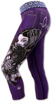 INKnBURN Women's Purple Lust Capris Left Side Waistband Down